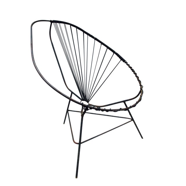 Mid-Century Modern Iron Acapulco Chair - Image 1 of 5