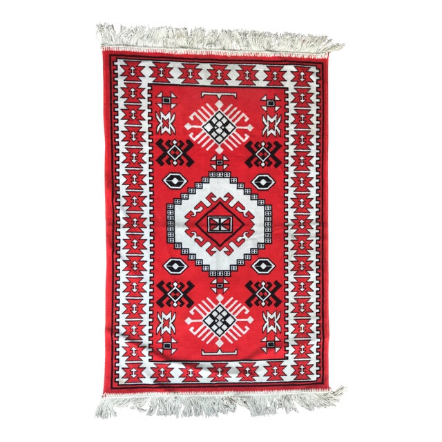 "Vintage Vibrant Red Rug - 2'3"" X 3'9"" - Image 1 of 6"