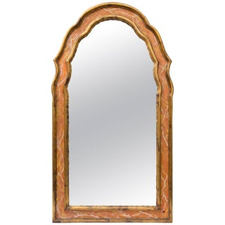 Italian Gilt and Faux Marble Wall Mirror