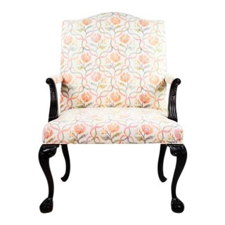 Victorian Style Floral Upholstered Armchair