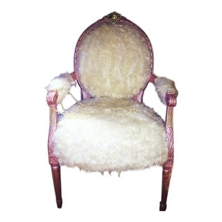 Pink Furr Salon Accent Chair