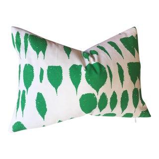 Queen of Spain Jade Green Schumacher Pillow Cover