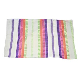 Handmade Moroccan Sabra Multicolored Throw Blanket