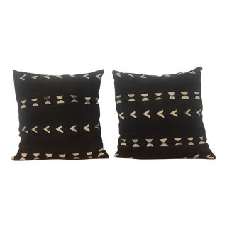 Black & White African Mudcloth Pillows - A Pair