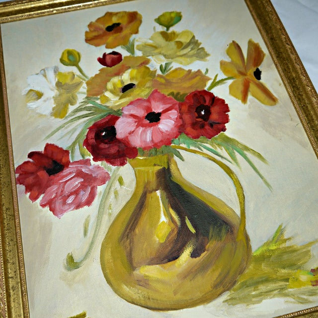 Original Floral Still Life Painting on Canvas - Image 7 of 7