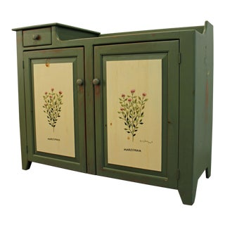 French Country Painted Cabinet