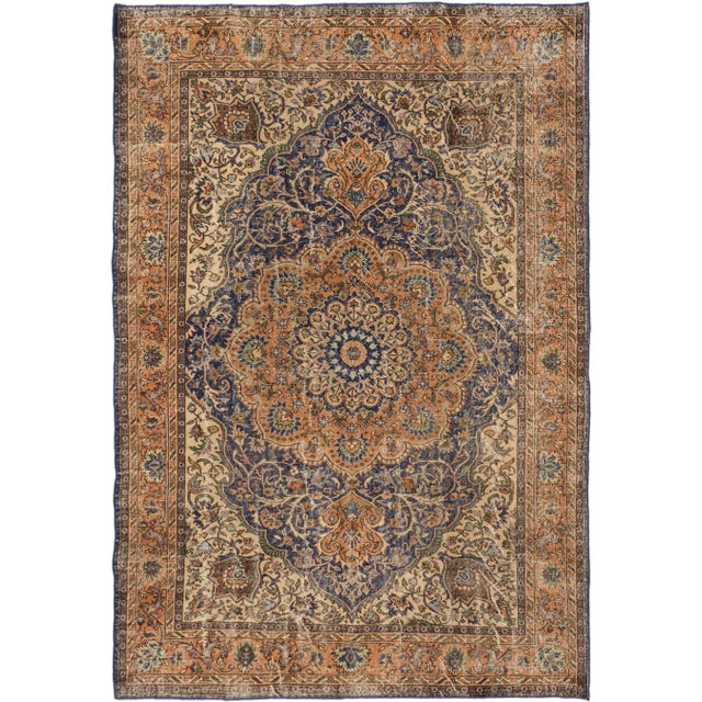 "Vintage Turkish Anatolian Rug - 7'5"" X 10'6"" - Image 1 of 2"