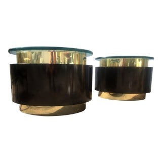 Gold & Black Tables - A Pair