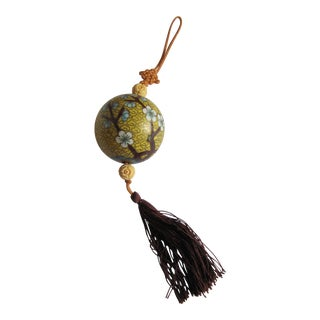 Cloisonnée Yellow & Blue Tassel