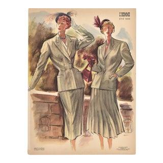 Mid-century woman's fashion