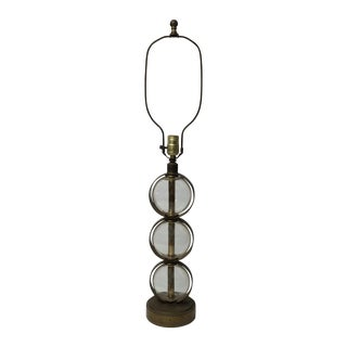 Vintage Brass & Stacked Glass Ball Table Lamp
