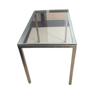 Room & Board Steel and Glass Custom Parsons Table