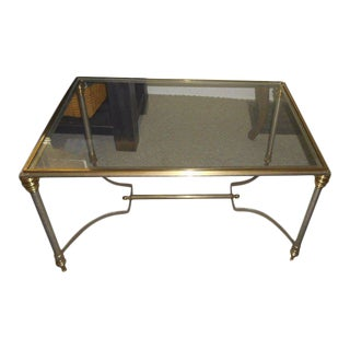Vintage Maison Jansen Glass End Table