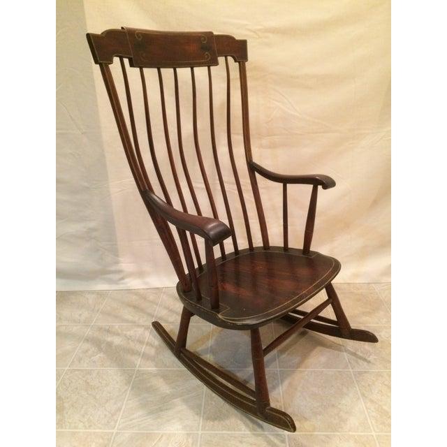 Antique Federal Period Boston Windsor Rocking Chair Chairish