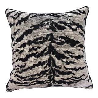 Kravet Couture on the Hunt White Tiger Pillow
