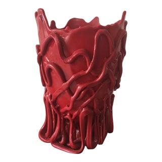 Red Gaetano Pesce Vase