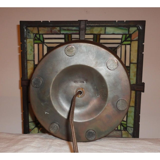 Fantastic Bronze Signed Arts & Crafts Table Lamp - Image 5 of 7