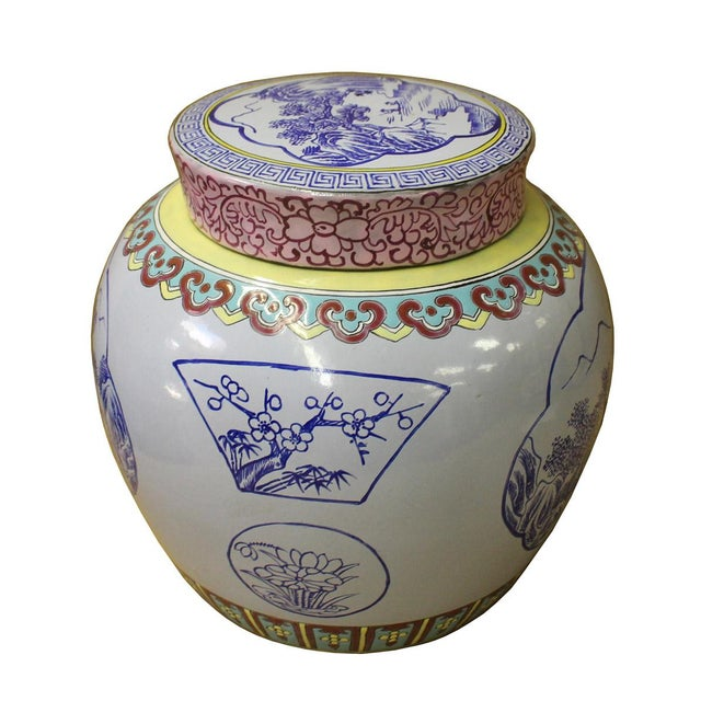 Chinese Zisha Clay Color Scenery Container Jar Cs2634