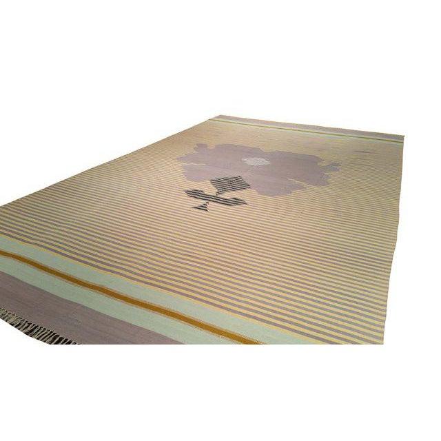 Cotton Handmade Dhurrie Rug - 9'7'' X 15'8'' - Image 2 of 3