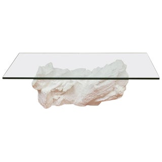 Sirmos White Plaster Rocks Coffee Table