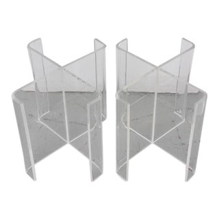 Lucite X Table bases--1960s USA