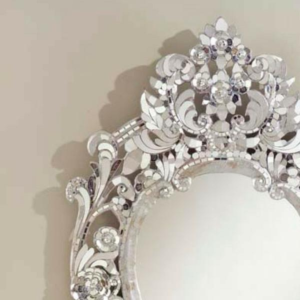Silver Handcut Glass Mirror - Image 3 of 4