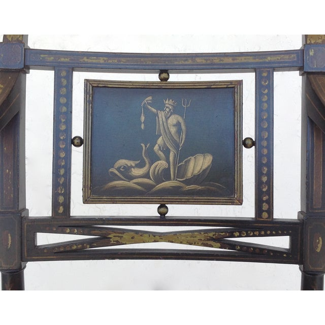 Maison Jansen Hand-Painted Regency Chair - Image 10 of 11
