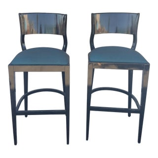Loewenstein Upholstered Bar Stools- A Pair