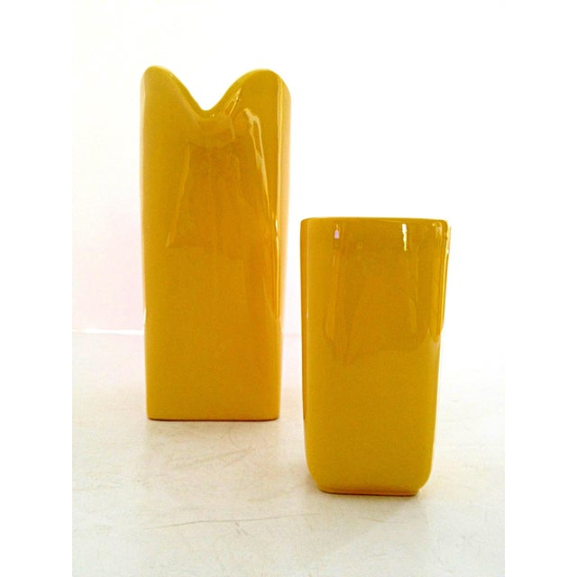 Franciscan Yellow Pitcher and Cup Set - Image 4 of 9
