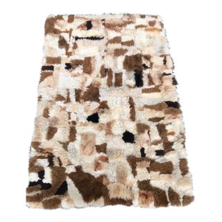 "Hand-Stitched Alpaca Patchwork Rug - 3'10"" X 5'11"""