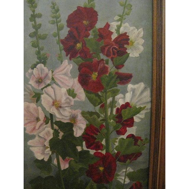 Painted Floral 3-Panel Victorian Screen - Image 4 of 6