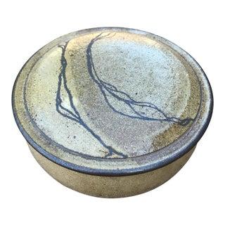 Vintage Art Studio Pottery Bowl with Lid