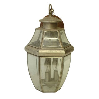 Pewter Color Hanging Lantern With Three Lights