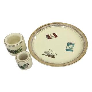 Mid-Century Italian Smoking Ceramic Set