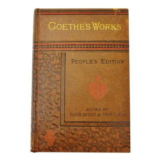 1882 Goethe's Works Faust A Tragedy Hardcover Book