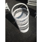 Image of Vintage White Wicker Tiered Stand