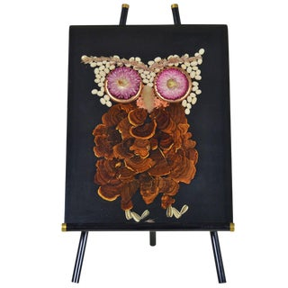 Lucite Plaque with Owl on Easel