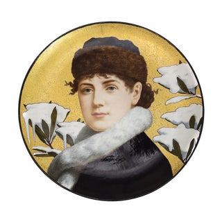1879 Herbert Wilson Foster for Minton Hand-Painted Portrait Charger