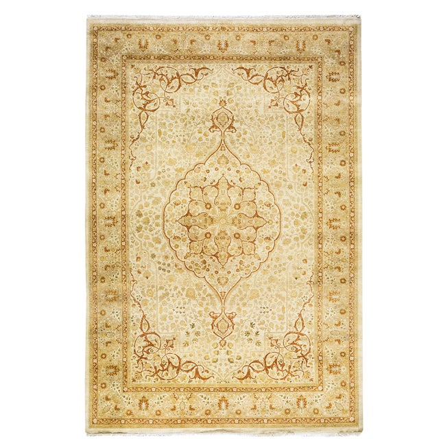 "New Traditional Hand Knotted Area Rug - 6'3"" x 9'4"" - Image 1 of 3"