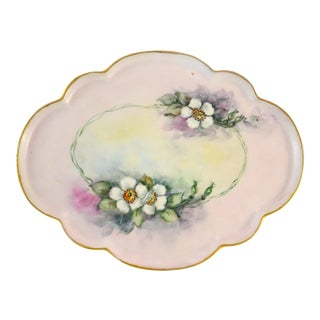 Antique Limoges Floral Tray
