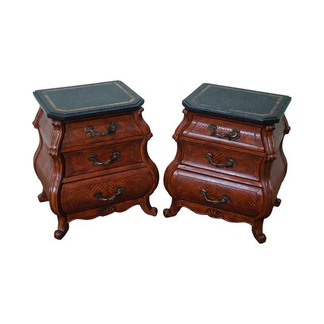 Image of Quality Bombe Leather Wrapped Chests - Pair