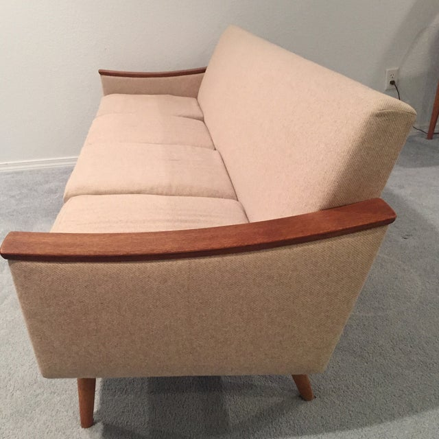 Image of Mid-Century Scandinavian Cream Sofa