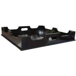 "Oomph ""Edgartown"" Square Black Lacquer Tray"