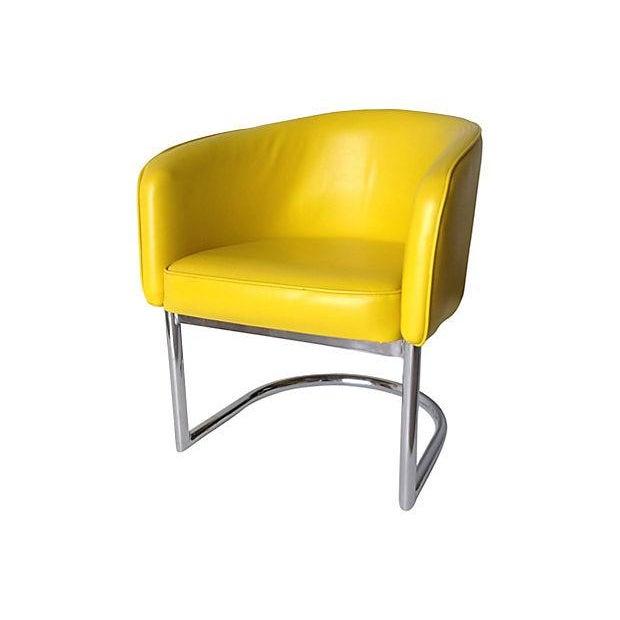 Milo Baughman Chrome Tub Club Chair - Image 2 of 7
