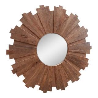 Bleached Wood Sunburst Mirror