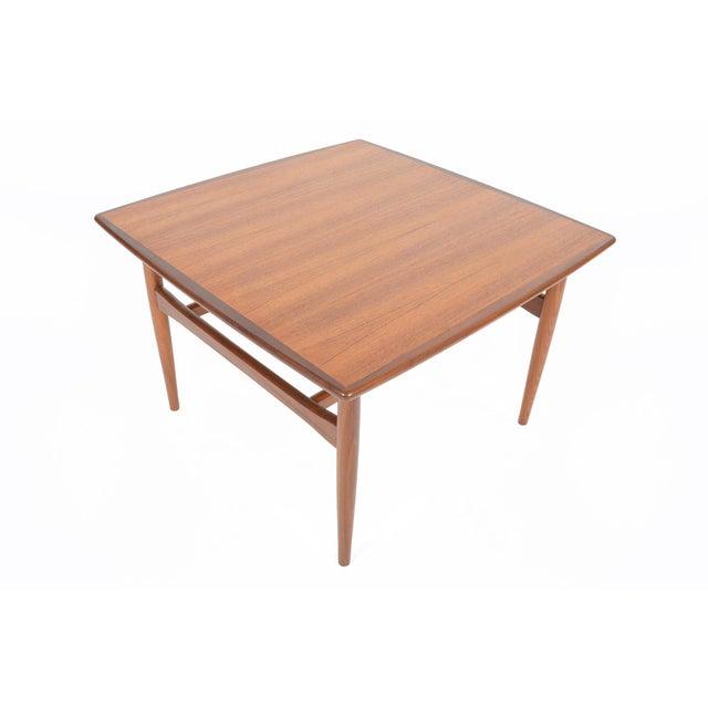 Mid-Century Danish Modern Square Teak Coffee Table