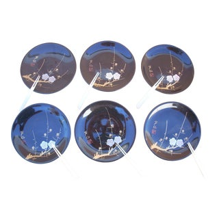 Japanese Lacquer Plates - Set of 6