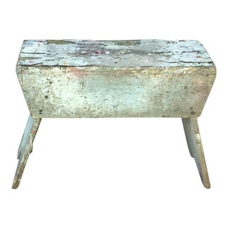 Primitive Antique Painted Utility Bench
