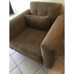 Image of Light Brown Mid Century Modern Style Chairs - Pair