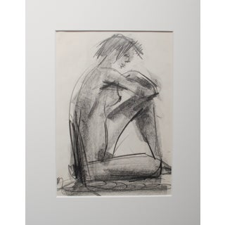 1970s Nude Charcoal Drawing